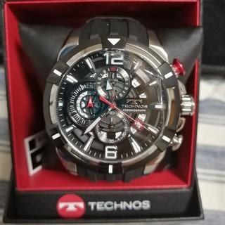 TECHNOS - TECNOS/テクノス/ブラック/クロノグラフ/腕時計