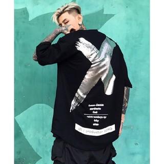 a♡ユニセックス♡ブラックシルバー(Tシャツ/カットソー(半袖/袖なし))