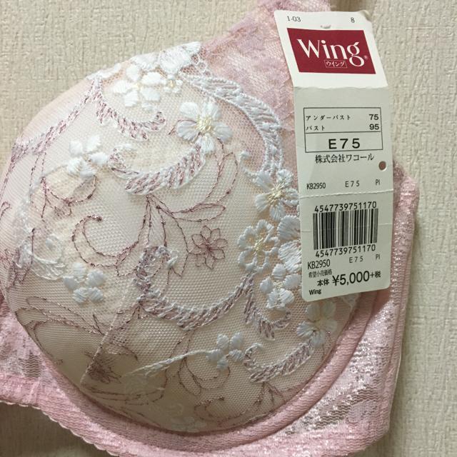 Wing(ウィング)のウイング  贅沢スリムブラE75 レディースの下着/アンダーウェア(ブラ)の商品写真