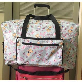 Disney - 大人気❤️【水色】折りたたみ旅行バッグ