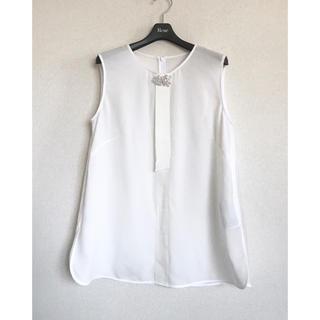ルネ(René)の今季物✨Rene パール飾りブラウス38(シャツ/ブラウス(半袖/袖なし))