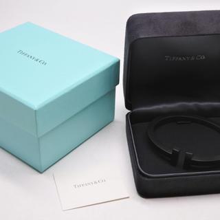 Tiffany & Co. - ティファニー スクエア ブレスレット バングル ティファニーT ブラック 正規
