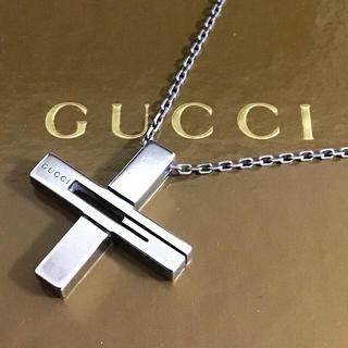 Gucci - 本日価格☆正規品☆GUCCI カットアウトG クロスネックレス