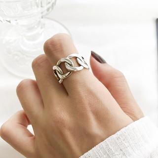 IENA - silver925 シルバーリング  チェーン 鎖 リング 極太 指輪