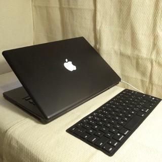 Mac (Apple) - ブラック MacBook 13インチ DVD搭載 Office シリコンカバー