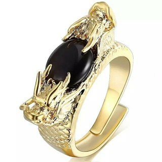 フリーサイズ 双頭龍 ツインドラゴン リング 指輪(リング(指輪))