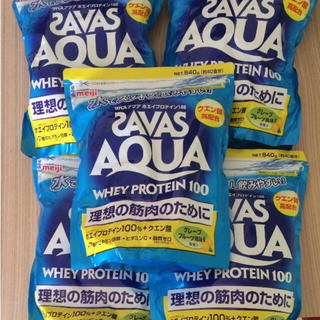 ザバス(SAVAS)の送料込み ザバスアクアホエイプロテイン グレープフルーツ5袋(プロテイン)