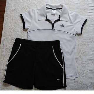 アディダス(adidas)の値下げ アディダスゲームシャツ&ナイキショートバンツ(ウェア)