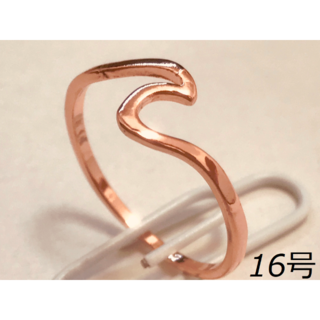 00108 【レディース指輪】ローズゴールド 16号(リング(指輪))