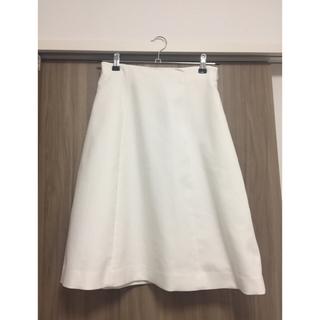 デミルクスビームス(Demi-Luxe BEAMS)のDemi-Luxe Beams 秋・冬 白色 スカート(ひざ丈スカート)