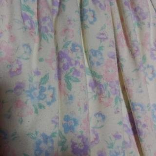 ディップドロップス(Dip Drops)のDip Drops~花柄&レースリバーシブルスカート~(ひざ丈スカート)