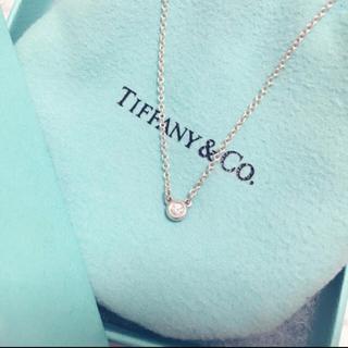 Tiffany & Co. - Tiffany シルバー 1粒ダイヤ ネックレス