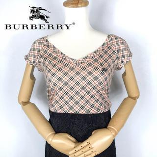 BURBERRY - バーバリー  ワンポイントロゴ  ノバチェック  Tシャツ  山陽商会