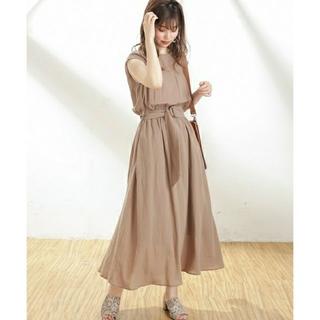 natural couture - natural couture べっ甲Dかん太ベルト涼しげワンピース