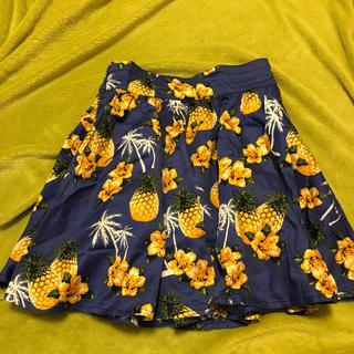ローリーズファーム(LOWRYS FARM)のLOWRYS FARM❤︎ローリーズファーム体型カバーパイナップル柄スカート(ミニスカート)