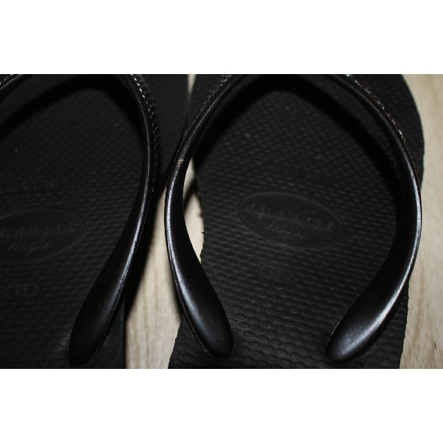 havaianas(ハワイアナス)のハワイアナス ビーチサンダル 黒 37 レディースの靴/シューズ(ビーチサンダル)の商品写真