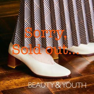 ビューティアンドユースユナイテッドアローズ(BEAUTY&YOUTH UNITED ARROWS)のBEAUTY&YOUTH 美品 フェイクレザー スクエアトゥパンプス(ハイヒール/パンプス)