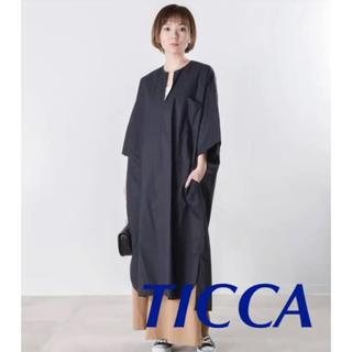 IENA - TICCA キーネックワンピース