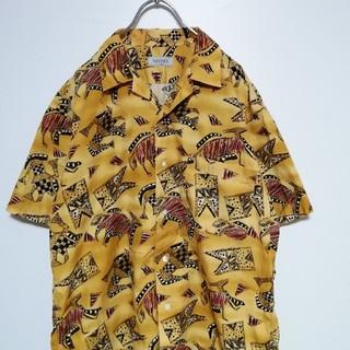 【美品】design shirt