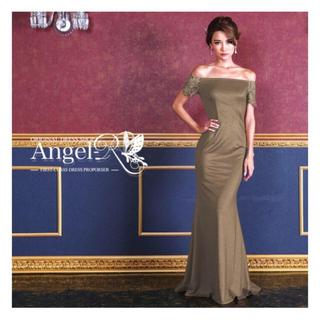 アンディ(Andy)の【新品タグ付き】即完売大人カラー!AngelR オフショルダー刺繍ロングドレス(ロングドレス)