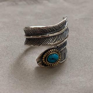 シルバー925 天然石ターコイズフェザーリング ターコイズリング(リング(指輪))