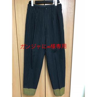 ヨウジヤマモト(Yohji Yamamoto)のヨウジヤマモト チョークストライプ  抜染2タックパンツ(スラックス)