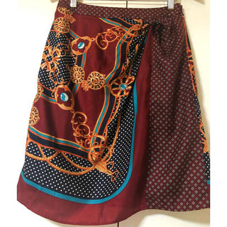 ビューティアンドユースユナイテッドアローズ(BEAUTY&YOUTH UNITED ARROWS)のユナイテッドアローズ スカーフ柄スカート(ひざ丈スカート)