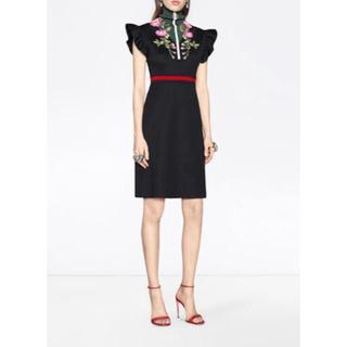 Gucci - GUCCI ラッフルスリーブドレス