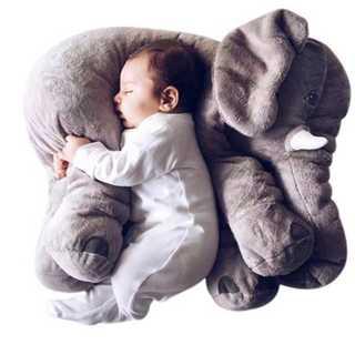 幼児のための 抱き枕クッション 柔らかゾウさん