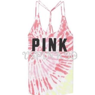 Victoria's Secret - ヴィクシー VS PINK タイダイ柄 タンクトップ ピンク サイズ S
