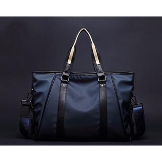 2way メンズ ビジネスバッグ 斜め掛け 大容量 旅行・通勤 ネイビー