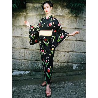 【即日配送】水原希子ブランド ok kiko チューリップ浴衣