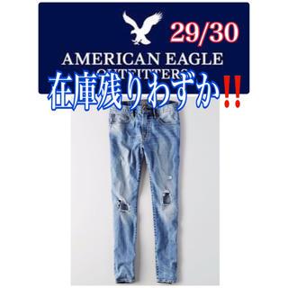 American Eagle - 【新品】アメリカンイーグル★スリムジーンズ★ダメージ加工★デニム★29/30