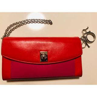 クリスチャンディオール(Christian Dior)のChristian Dior 長財布 レディース 赤(長財布)