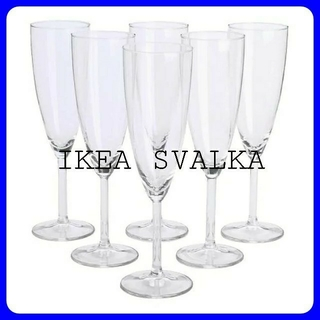 IKEA - IKEA SVALKA シャンパングラス 6ピース