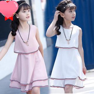 KWBS019可愛い子供、キッズワンピース(4色110-160) (ワンピース)