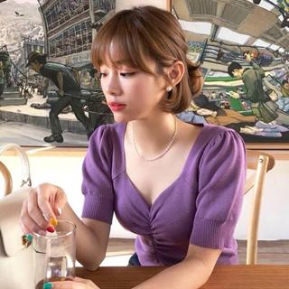 ZARA - 大人気!【新作❤︎】 パフスリーブサマーニット 韓国ファッション
