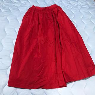テチチ(Techichi)の新品タグ付☆赤ロングスカート☆free(ロングスカート)