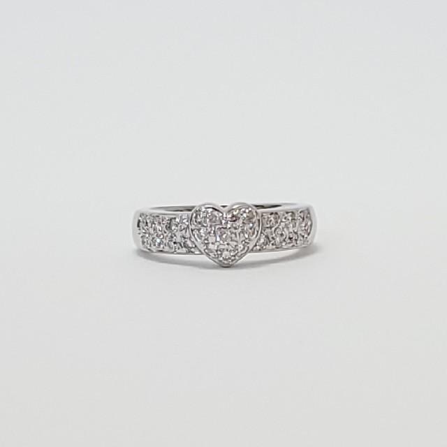 PonteVecchio(ポンテヴェキオ)のポンテヴェキオ*リング ハート ダイヤモンド K18WG 指輪|極美品 レディースのアクセサリー(リング(指輪))の商品写真