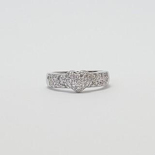 ポンテヴェキオ(PonteVecchio)のポンテヴェキオ*リング ハート ダイヤモンド K18WG 指輪|極美品(リング(指輪))