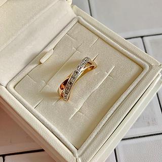 ヨンドシー(4℃)の4℃ ヨンドシー プレジェンス ダイヤモンド リング PT/K18PG 12号(リング(指輪))