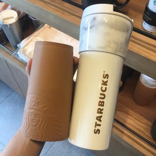 Starbucks Coffee - [韓国スタバ] 合皮スリーブ付タンブラー