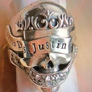 ジャスティンデイビス(Justin Davis)の美品 ジャスティンデイビス リング 16号(リング(指輪))