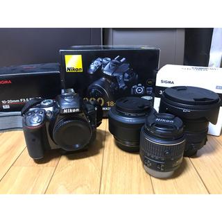 ニコン(Nikon)のNikon D5300  レンズ3本セット  SIGMA 単焦点 広角(デジタル一眼)