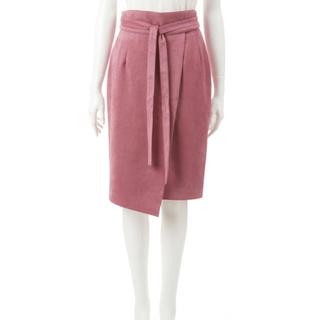 ココディール(COCO DEAL)の売切希望 COCO DEAL フェイクスウェードベルト付コクーンスカート(ひざ丈スカート)