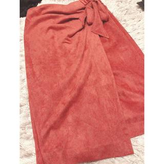 ココディール(COCO DEAL)の売切希望 レンアイケイカク ラップ風フェイクスウェードタイトスカート(ひざ丈スカート)