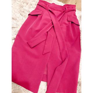 ココディール(COCO DEAL)の売切希望 COCO DEAL リボン付コクーンスカート(ひざ丈スカート)