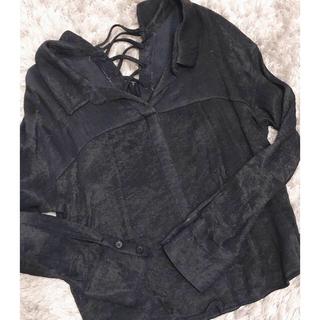 ココディール(COCO DEAL)の売切希望 レンアイケイカク バックレースアップシャツ(シャツ/ブラウス(長袖/七分))