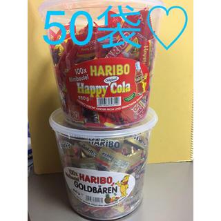 ゴールデンベア(Golden Bear)の新品♡お菓子♡グミ♡ハリボーグミ♡合計50袋(菓子/デザート)