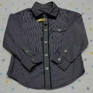 ARMANI JUNIOR - アルマーニ ジュニア ストライプ ブラウス ドレス シャツ 2A 94cm